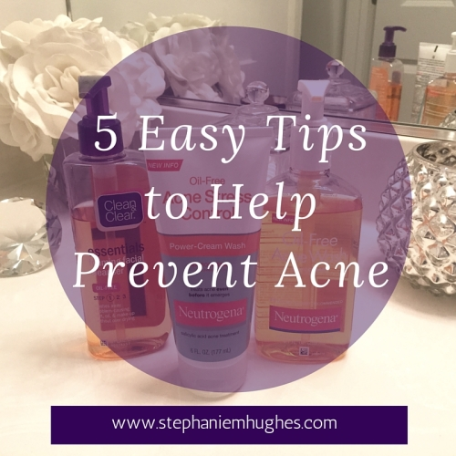 5 Easy Tips to Help Prevent Acne